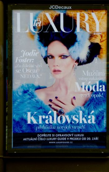 #blueorange #City #commercial #downtown #fashion #Jodie Foster #Luxury #magazine #Oscar #Prague #wig