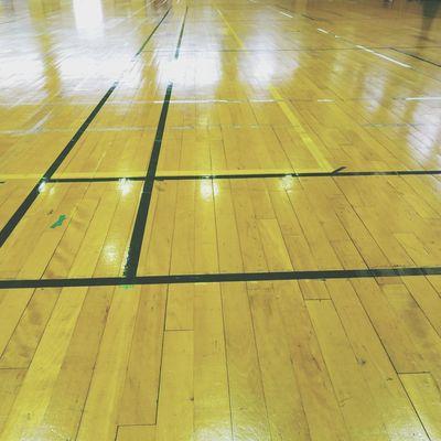 gymnasium Floor 床 体育館 Water Yellow Wet Full Frame