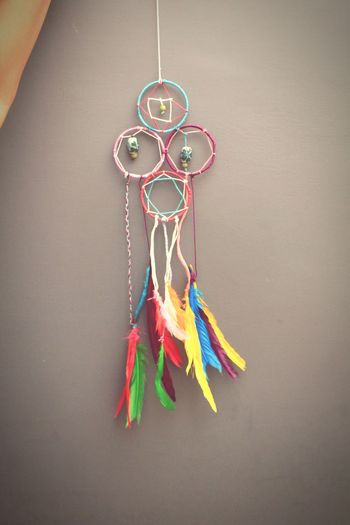 Colors Dreamcatcher DIY Thread Feathers♡ Amazing *-*