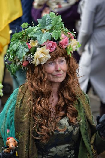 Jack In The Green Festival Jack In The Green Hastings May Day 2017 May Day Crown One Person Long Hair Pagan Red Hair Smiling Headdress Front View Green Feather  Green Color Beautiful Woman East Sussex Togetherness Headwear Real People Mid Adult Flower Looking At Camera The Portraitist - 2017 EyeEm Awards