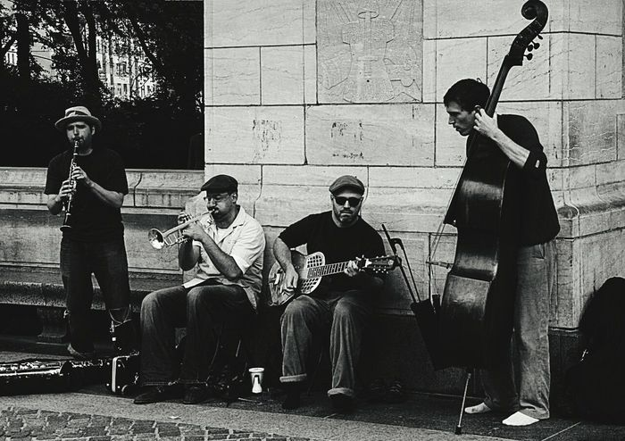 Street Musician Street Photography Musical Performance Musician New York Black & White Monochrome