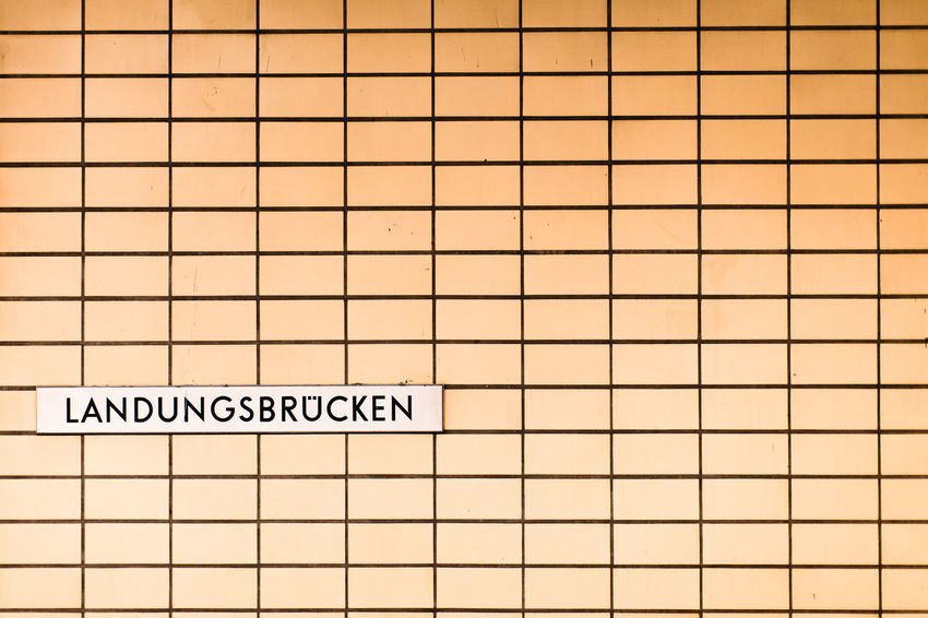 Landungsbrücken / station wall in dirty apricot gradient... (c) Nidal Sadeq Apricot Brick Wall Copy Space German Gradient Hamburg Landungsbrücken  Lines Orange Typography Urban Geometry Wall Arts Culture And Entertainment Backgrounds Close-up Communication Day Germany Indoors  No People Railway Station Railwaystation Structure Typo Around The World