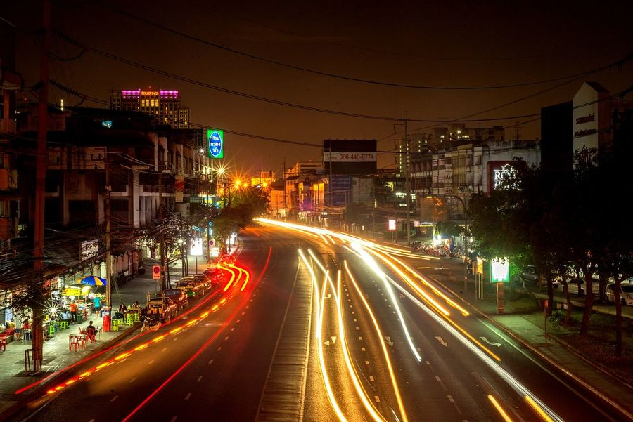 Road Street Town City Metropolis Light Tail Light Traffic Go LINE Yelliw Headlight Headlights And Taillights Automotive Civil Public EyeEmNewHere An Eye For Travel Business Stories