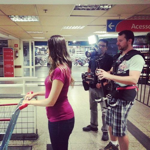Behind the scenes! Shooting for Extra Hipermercados.