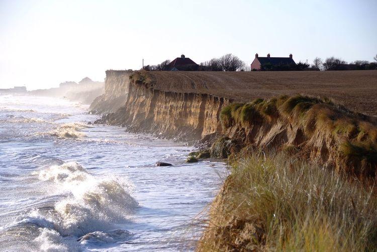 Coastal erosion. Storm surge southwold Cliffs Coastal Erosion Storm Surge Sky Land Nature Water Day Beauty In Nature Scenics - Nature