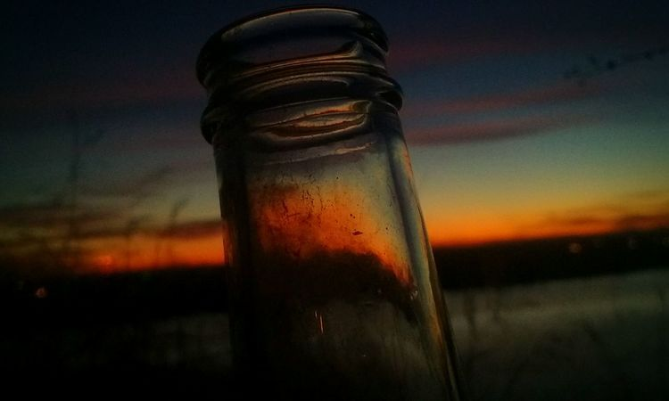Sky Nature Glass Bottle Beauty In Nature Love Photograph Backgrounds Sunset