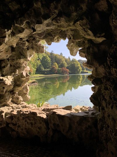 Lake behind a