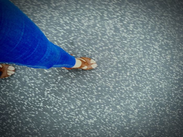 Human Foot Blue Jeans Personal Perspective Sreps