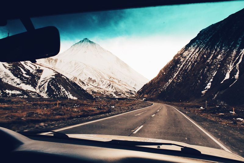 Car Transportation Mountain Windshield Road Vehicle Interior Nature Car Interior Travel Day Car Point Of View The Way Forward Scenics Snow Mode Of Transport Land Vehicle Landscape Mountain Range Winter Sky Miles Away
