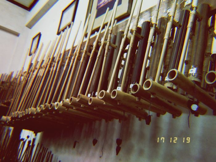 Angklung music instrumental. it's a heritage. it's a culture. it's from Indonesia. Music Cultures Orchestra Life INDONESIA Bandung Gentraseba Metal Built Structure Architecture No People Day Full Frame Indoors  first eyeem photo