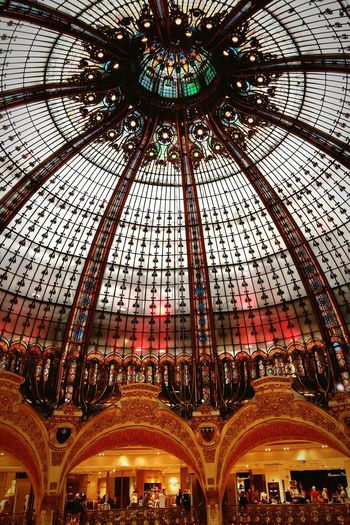Coupole Galeries Lafayette Haussmann Classy Architecture Mythique France