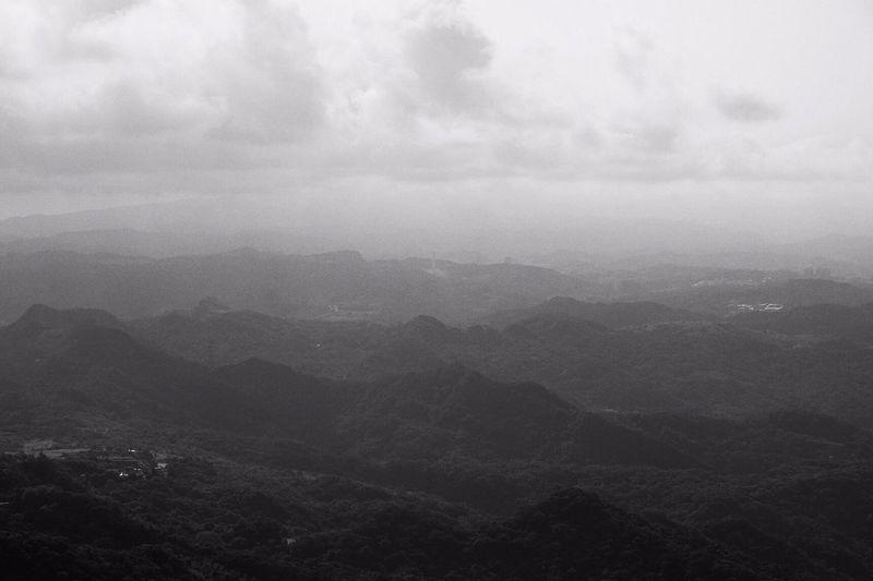 Mountain people, mountain sea Clouds And Sky Blackandwhite Monochrome Landscape