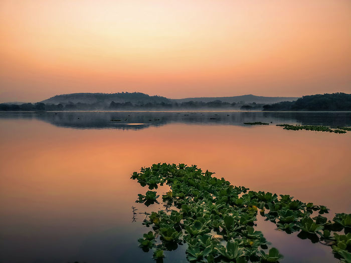 Pashan lake Sunrise Oneplus3 Shotononeplus Sunset Reflection Tranquility Sky Beauty In Nature Landscape Sunlight