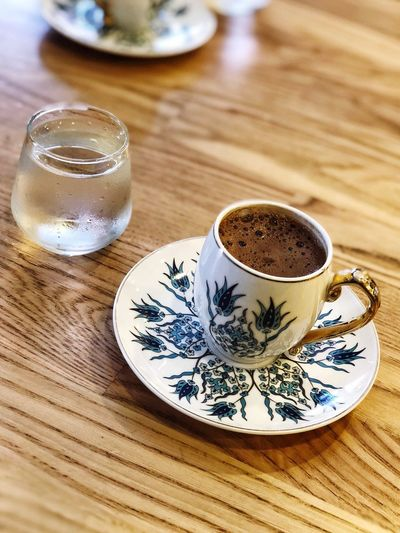 Greek Coffee  Turkish Coffee Turkishcoffee Turkishcoffee Drink Food And Drink Cup Refreshment Mug Table Indoors  Coffee Cup Hot Drink Coffee Still Life High Angle View No People Close-up