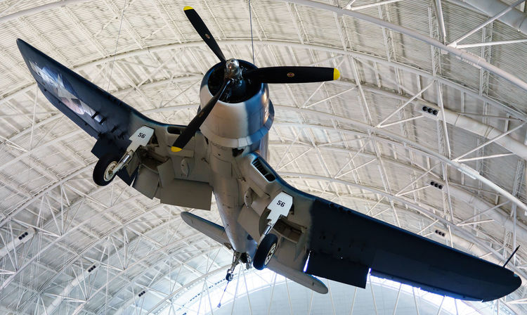 Aerospace Industry Air Force Air Vehicle Aircraft Wing Airplane Black Bird Day Discovery Indoors  Low Angle View Military No People Planes Repairing Smithsonian Space Shuttle Technology Transportation USA Virginia Washington Washington, D. C.