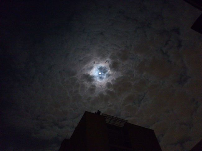 Moon between Cloads