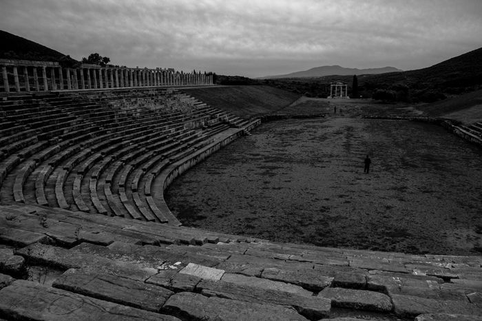Ancient Architecture Ancient Civilization Ancient Greek Ancient Ruins Blackandwhite Culture Messinia Theater