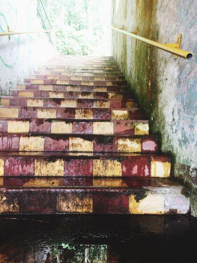 Lodo en gradas EyeEmNewHere Steps Staircase Indoors  Multi Colored Day EyeEmNewHere