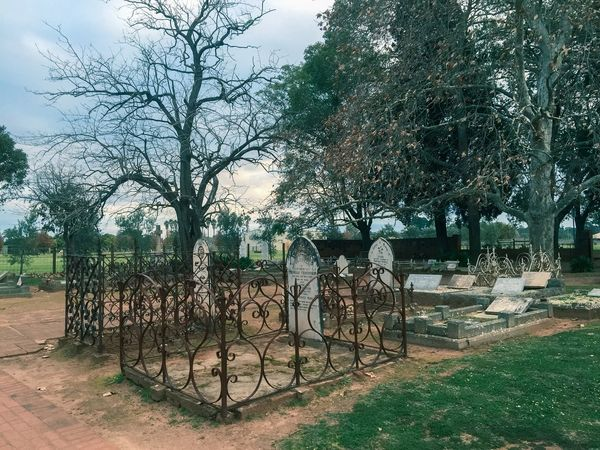 Cemetary on a Winter's Night Cemetery Burial Ground Graves Gravestone Headstone Plots Twilight Dusk Graveyard Trees Leafless Cemetery Photography All Saints Church Cemetery Western Australia Swan Valley  Henley Brook Death Remembrance Garden Fence Rest In Peace ❤ Burial Loved Ones Nature Peaceful Night