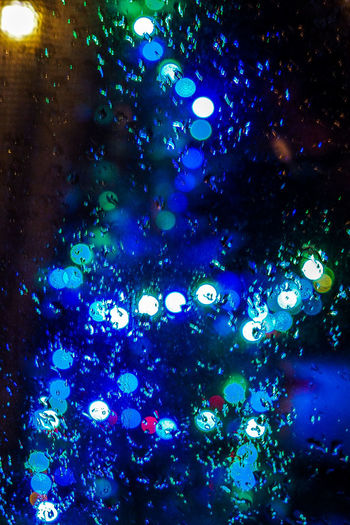 Blured Lights Backgrounds Blured Blured Background Blured Christmas Lights Close-up Full Frame Illuminated Indoors  Multi Colored Night No People Water