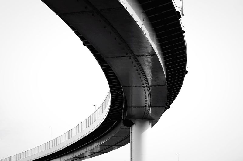 a bend. Design Tokyo Cityscapes Light And Shadow Beautiful Highway Black And White Architecture Urban Geometry