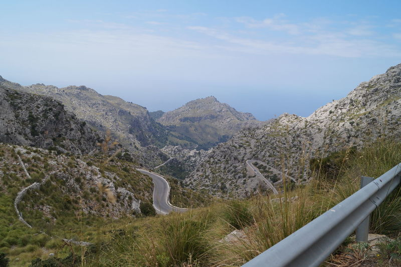 Mallorca Road SPAIN Transportation Travel Clouds Mountains Rocks Serpentine Sky Street Tramuntana Travel Destinations