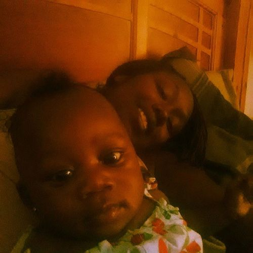 Me and my bri bri!!! Mommy♥ MySecondBlessing Wechilling Currently in bed