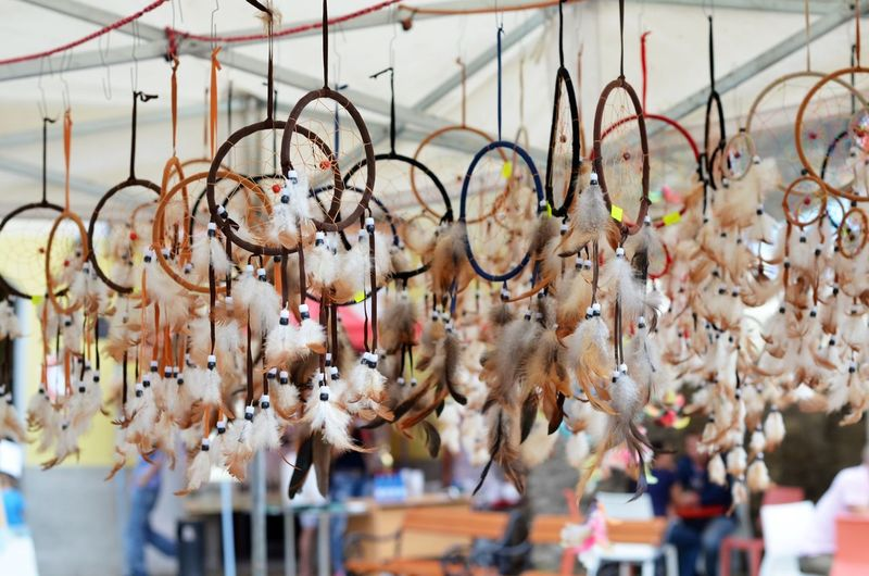 Beutiful  Day Dream Dreamcatcher Hanging Hope - Concept Large Group Of Objects Outdoors