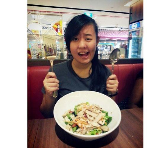 Hungry hungry hungry! Very very very! Saladddddddd! Sewns Rachelbday Iamhungry Salad
