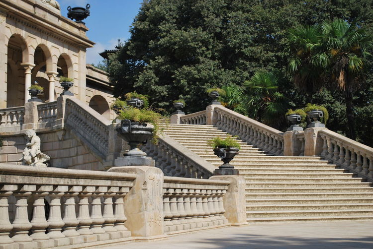 Architecture Barcelona Barcelona, Spain Building Catalonia Catalunya Day History No People Outdoor Outdoor Photography Outdoors Outside Sculpture Sky SPAIN Staircase Stairs Stairways Statue Steps Steps And Staircases Tree
