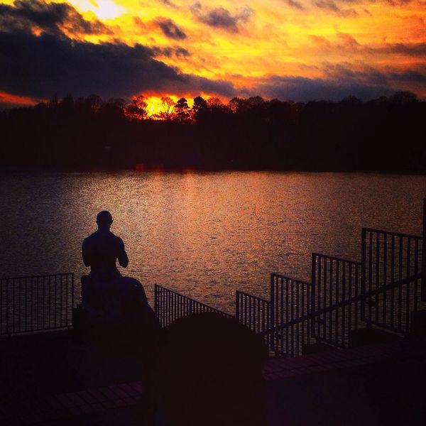Stadtpark Hamburg Sunset Lake