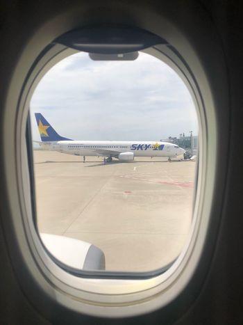今だけ(o^^o)♪ Skymark Airlines Skymark Airplane Air Vehicle Mode Of Transportation Sky Transportation Window Cloud - Sky