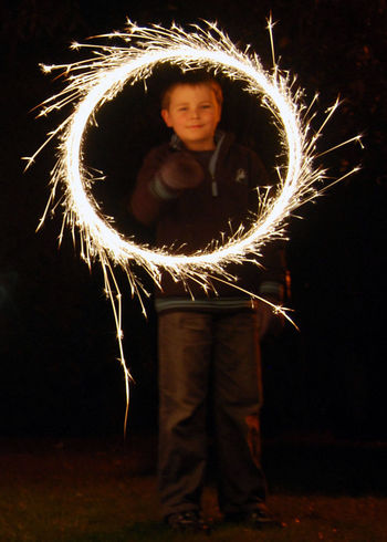 Fun with a sparkler making a Ring of Fire Firework Fireworks Fun Hallowe'en Ring Of Fire Sparkler Sparklers Sparks Sparks Fly