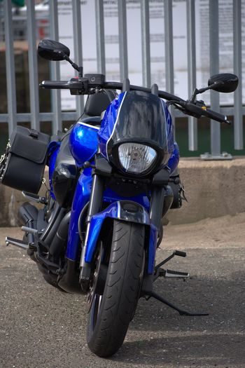 This Motorbike Is A Beauty Motorcycle Motor Bike Blue Fuel Tank Handlebar Touring Bike Suzuki Intruder M1800R Powerful Motorcycle City Motorcycle Stationary Blue Vehicle Headlight Side-view Mirror