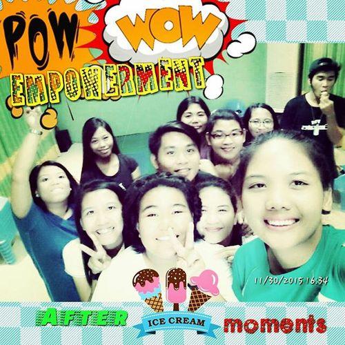 Groufie with 10-12 volunteers after the ice cream bonanza. Parasaicecream Powwow Tentotwelve Kidzlifeempowerment Commitment