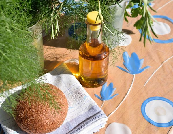 Bread and Oil Bread And Oil Healty Eating Mediterranean Diet Mediterranean Food Ready-to-eat Table
