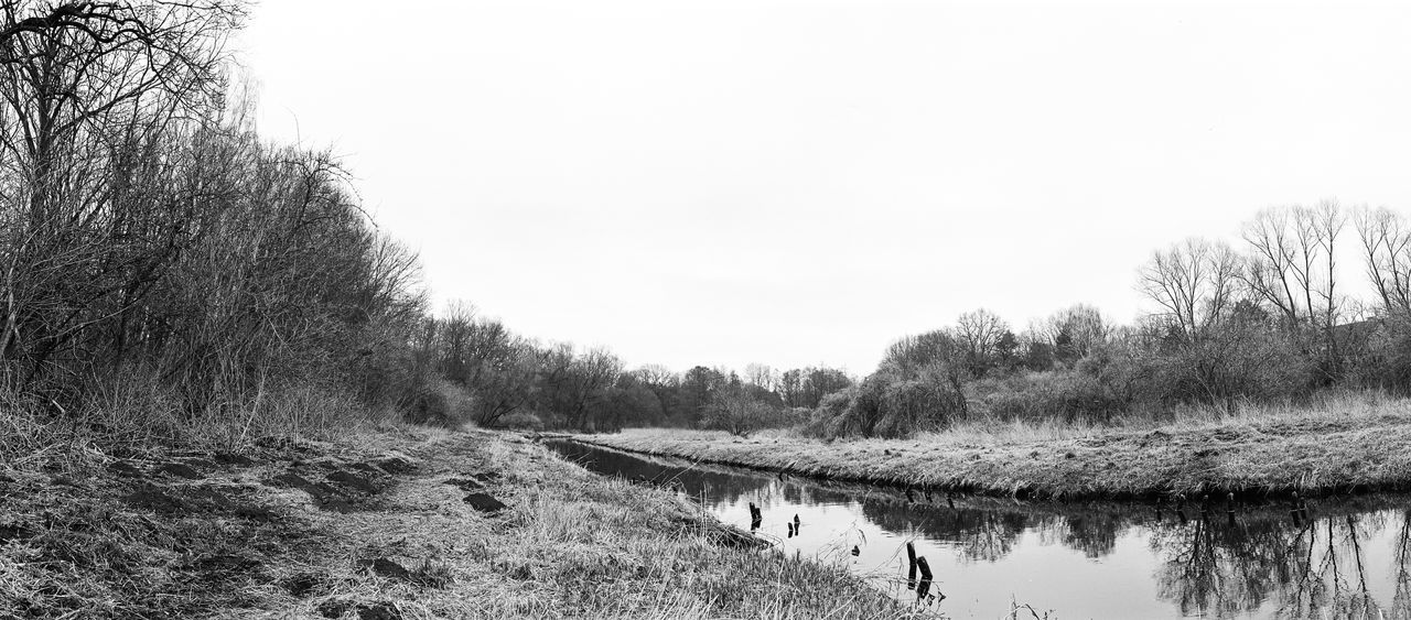 Outside Creek Riverside Early Spring Reflection Trees Spring Gray Sky Beauty In Nature Growth Landscape Nature Water Copy Space No People Analogue Photography TX400 Filmisnotdead Black And White Monochrome Schwarzweiß Blackandwhite