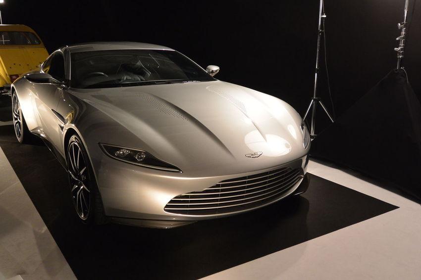 007 James B 007 Spectre Aston Martin Aston Martin 007 ASTON MARTIN DB11 British Car Close-up Grey Color Indoors  Movie Cars Paris International Motor Show 2016