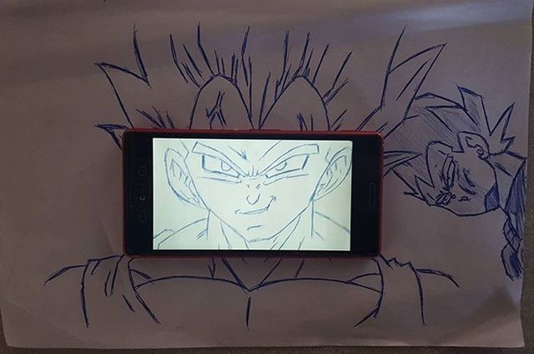 Vegeta head screen shot Vegeta Punch by Cyborg18 , Atwork I spend the Time Ballpointpen