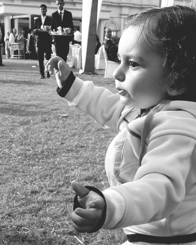 Black And White Friday Girls Childhood Child Playing People Full Length Lifestyles Yellow Standing Sport Real People Day Outdoors Children Only Soccer Field Adult EyeEm Ready