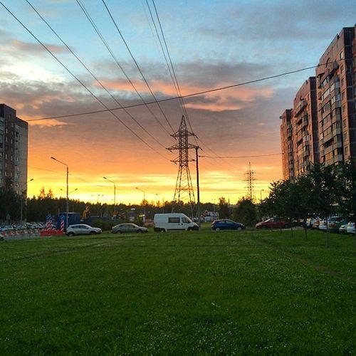 Горит. Спб небо приморскийрайон Закат Spb Sky Sunset