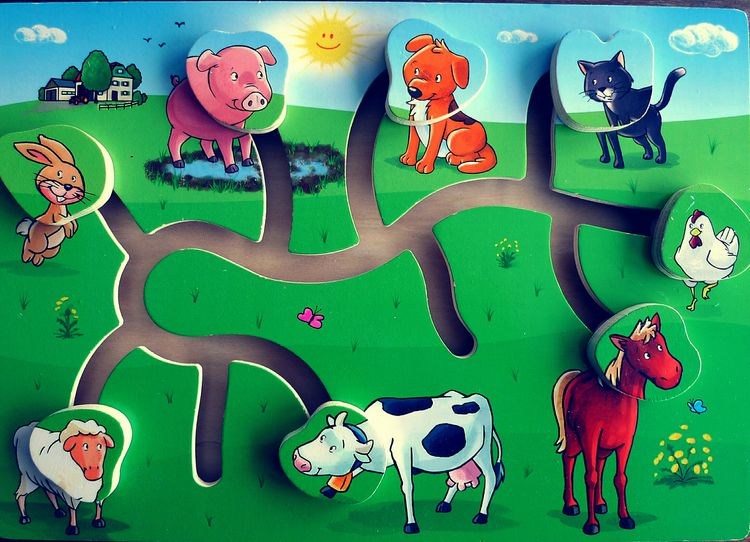 Childrens Games Children Play Childrens Game Animals Puzzle Puzzle  Puzzle Time Puzzle For Kids Farm Theme