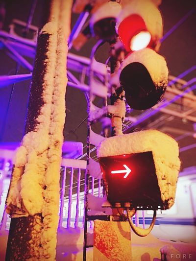 The Week on EyeEm EyeEmNewHere Railroad Crossing Snow ❄ Tokyo,Japan Illuminated Night Lighting Equipment Focus On Foreground Indoors  Low Angle View Shades Of Winter No People Close-up