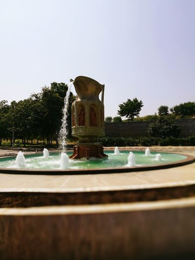 Fountain Clear Sky Angel Fountain Ramoji Film City, Hyderabad Check This Out Hello World ✌ Water Tea Pot Fountain