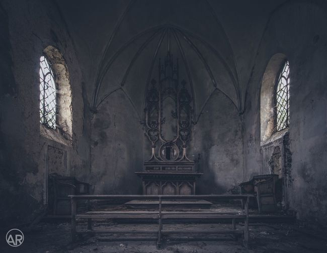 Abandoned chapel, Belgium. Religion Spirituality Place Of Worship Indoors  No People Architecture Day Rose Window Canon Urbex EyeEmNewHere Abandoned