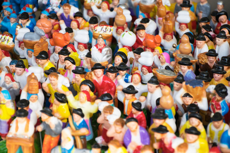 Full frame shot of figurines