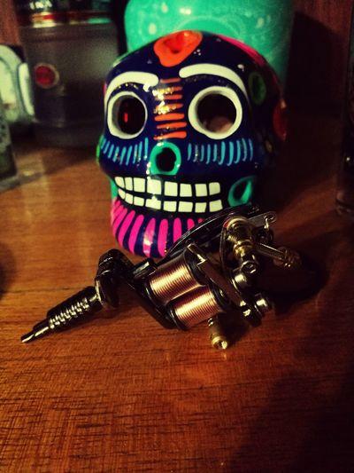 Art Skullmexican Machinetattoo Tattoed Skull