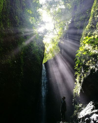 Walang Langit waterfalls. Waterfall Nature Sunbeam Trecking Orientalmindoro Travel Photography Philippines Hikingadventures HuaweiP9plus