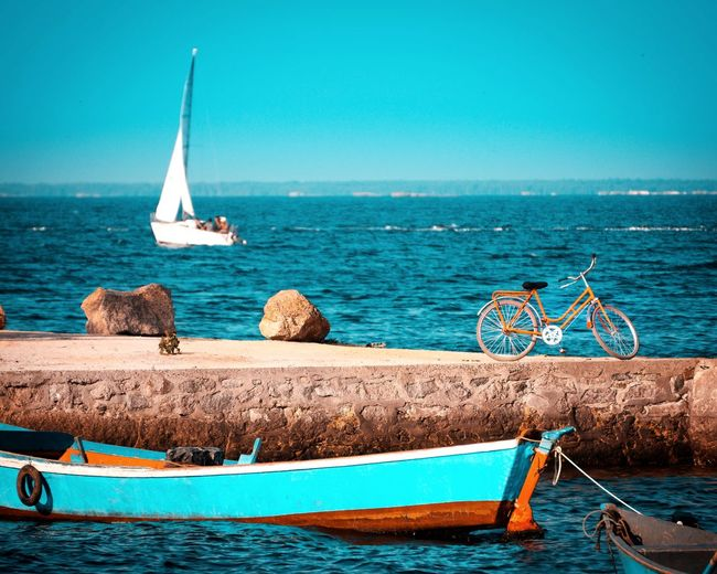 EyeEm Selects Sailing Ship UnderSea Yachting Water Nautical Vessel Sea Sailing Beach Sailboat Fishing Boat Mast Sailing Boat