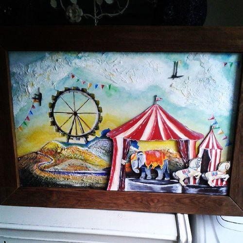 Art prac term 3 ! Circus Vintage Art Ferricewheel